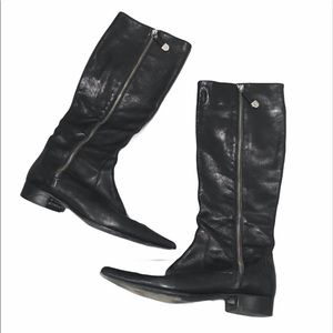 Furla Leather Tall Boots